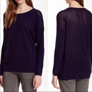 Vince Purple 100% cashmere Sweater S EUC